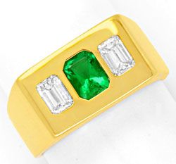 Foto 1 - Diamantring Sensations Smaragd, 0,8ct Diamanten Schmuck, S6482