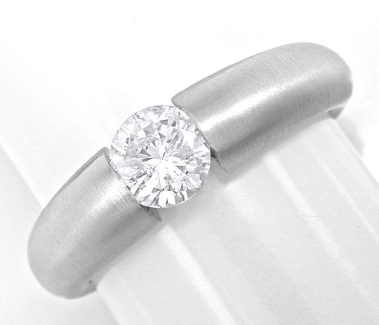 Foto 2 - Brillant Spann Ring 0,72 Top Wesselton 18K Weiss Luxus!, S6489