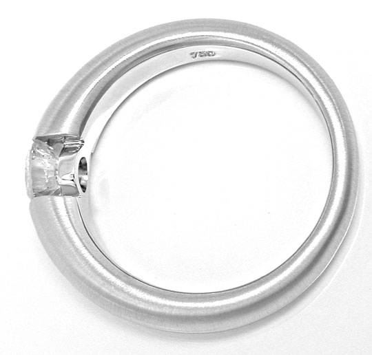 Foto 3 - Brillant Spann Ring 0,72 Top Wesselton 18K Weiss Luxus!, S6489