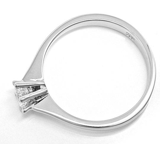 Foto 3 - Klassiker Brillant Ring, Solitär Diamant River 18K Neu!, S6491
