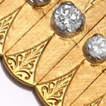 Gold Armband 0,77ct River Brillanten Guillochierung 18K