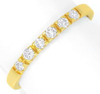 Foto 1 - Halbmemory Brillantring Gelbgold 6 Diamanten River Shop, S6572
