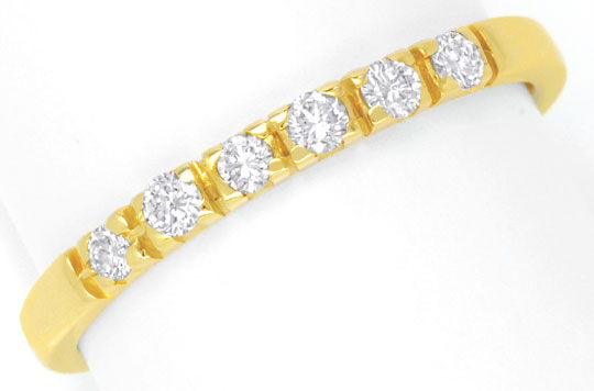 Foto 2, Halbmemory Brillantring Gelbgold 6 Diamanten River Shop, S6572