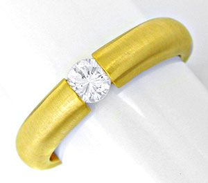 Foto 1, Brillant Spann Ring 18K Gelbgold, River! VS Luxus! Neu!, S6597