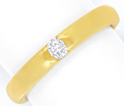 Foto 1, Massiver Brillant-Ring 18K Gelbgold, Diamant River Shop, S6613