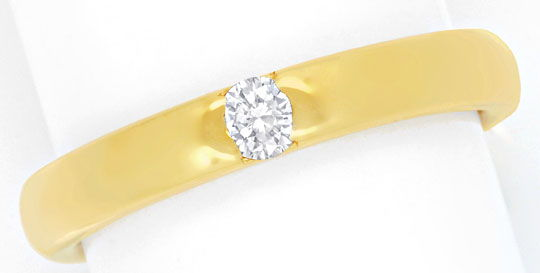Foto 2, Massiver Brillant-Ring 18K Gelbgold, Diamant River Shop, S6613