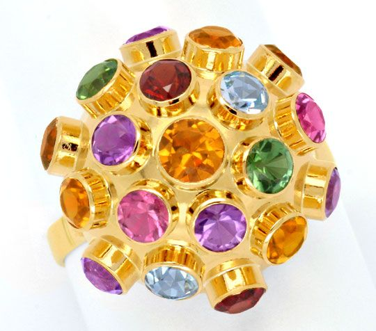 Foto 2 - Goldring Citrine Amethyste Granate Topas Spinell Luxus!, S6620