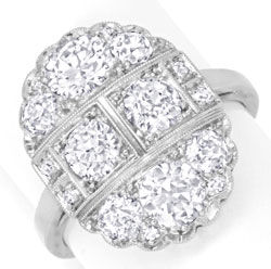 Foto 1 - Original Artdeco Diamantring 2,32ct Platin Gold Schmuck, S6625