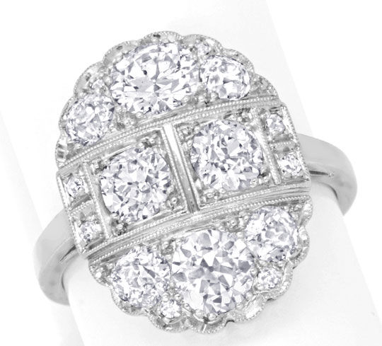 Foto 2 - Original Artdeco Diamantring 2,32ct Platin Gold Schmuck, S6625
