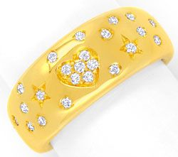 Foto 1, Original Wempe Brillantring 23Diamanten Gelbgold Luxus!, S6656