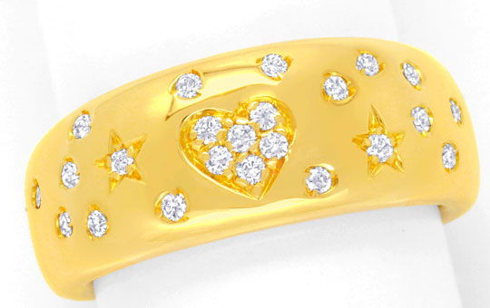 Foto 2, Original Wempe Brillantring 23Diamanten Gelbgold Luxus!, S6656