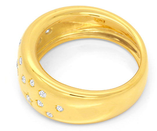 Foto 3, Original Wempe Brillantring 23Diamanten Gelbgold Luxus!, S6656