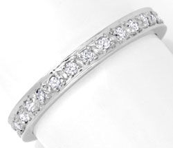 Foto 1, Vollmemory Diamant Ring, 28 Diamanten, Weissgold Luxus!, S6691