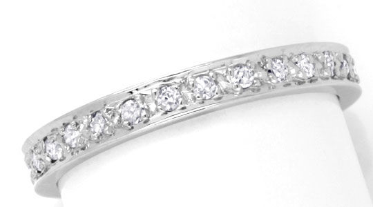 Foto 2 - Vollmemory Diamant Ring, 28 Diamanten, Weissgold Luxus!, S6691