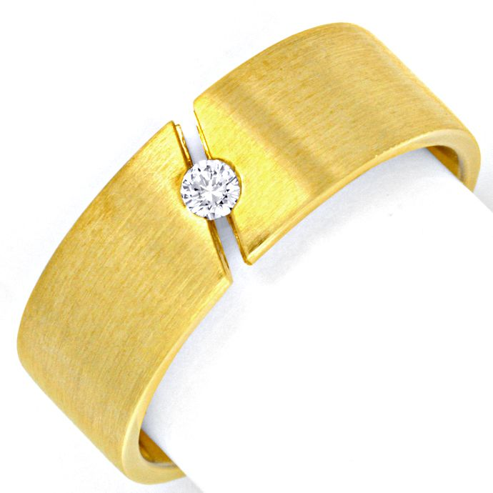 Brillant Spannring Gelbgold, Brillant River Luxus! Neu!, Designer Ring