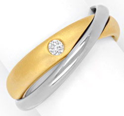 Foto 1 - Niessing Ring mit 0,07ct Brillant, Bicolor verschlungen, S6712