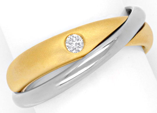 Foto 2 - Niessing Ring mit 0,07ct Brillant, Bicolor verschlungen, S6712