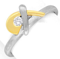 Foto 1 - Brillantring Gelbgold Weissgold 18K Top Design Shop Neu, S6715