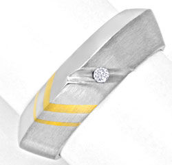 Foto 1 - Brillant Designring Gold Palladium River Lupenrein Shop, S6716
