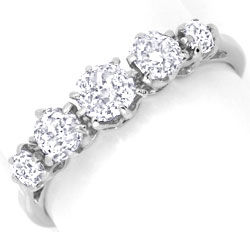 Foto 1, Platin Diamant Ring 0,94ct Altschliff Diamanten, Luxus!, S6736