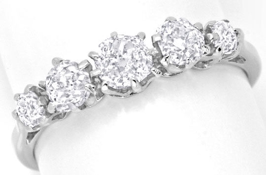 Foto 2, Platin Diamant Ring 0,94ct Altschliff Diamanten, Luxus!, S6736