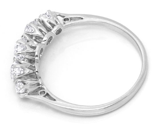 Foto 3, Platin Diamant Ring 0,94ct Altschliff Diamanten, Luxus!, S6736