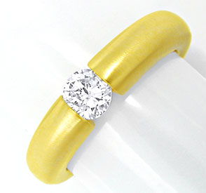 Foto 1, Top Brillant Spannring 0,43ct 18K Gelbgold, Luxus! Neu!, S6758
