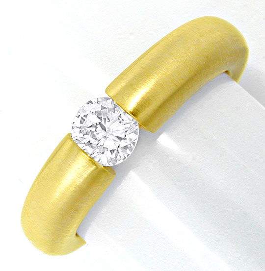 Foto 2, Top Brillant Spannring 0,43ct 18K Gelbgold, Luxus! Neu!, S6758