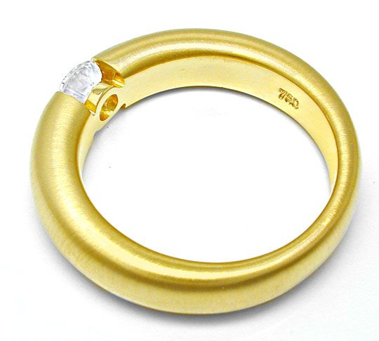 Foto 3, Top Brillant-Spannring 0,43ct 18K Gelbgold, Luxus! Neu!, S6758