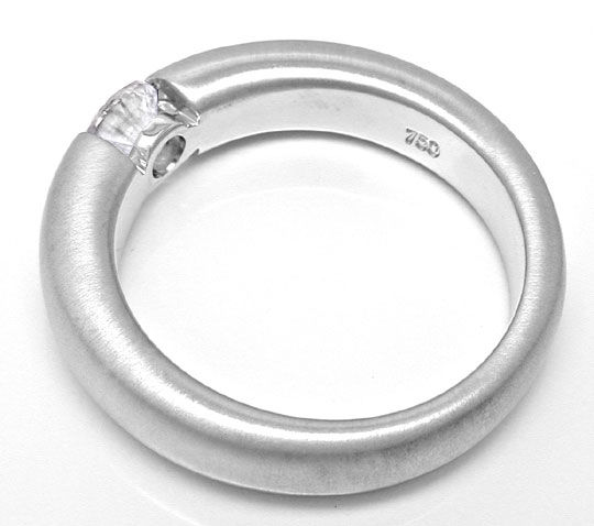 Foto 3, Brillant Spann Ring 0,41ct Top Wesselton F, Luxus! Neu!, S6759