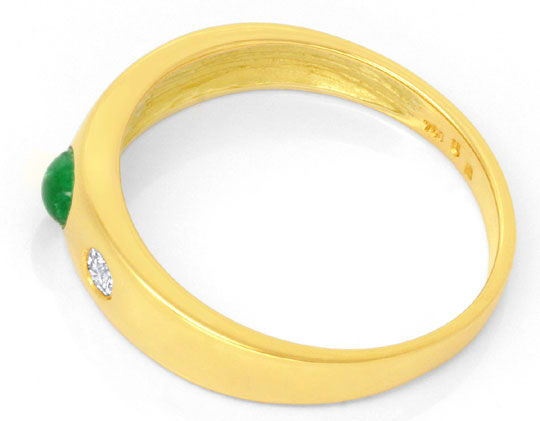 Foto 3 - Smaragd Diamantbandring, 2 Brillanten 18K Gelbgold Shop, S6771