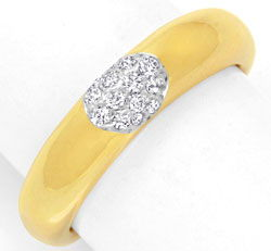 Originalfoto DIAMANTRING ORIGINAL WEMPE 18K GOLD 14 DIAMANTEN 1.400€