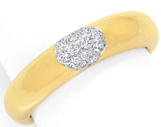 Foto 2, Diamantring Original Wempe 18K Gold 14 Diamanten Luxus!, S6778