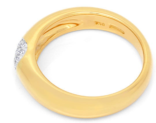 Foto 3, Diamantring Original Wempe 18K Gold 14 Diamanten Luxus!, S6778