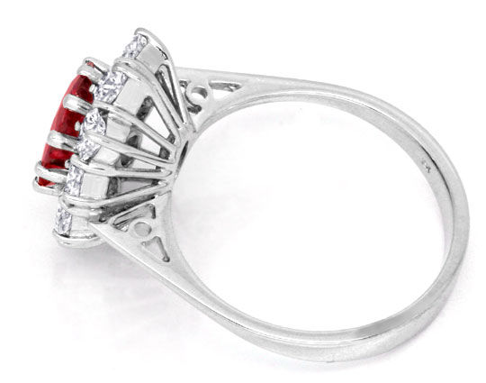 Foto 3, Brillant-Ring 2,1ct Super-Rubin 1,4ct Diamanten Schmuck, S6780