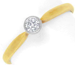 Foto 1, Antiker Diamantring in Gold und Platin, River VS2, Shop, S6794