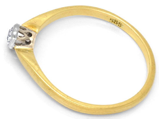 Foto 3, Antiker Diamantring in Gold und Platin, River VS2, Shop, S6794