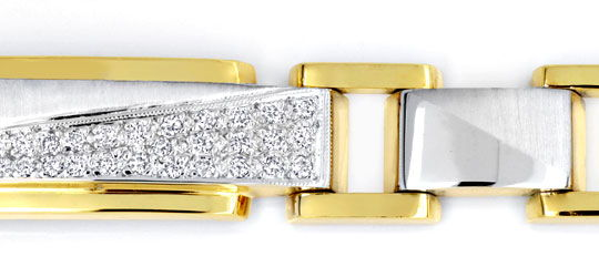 Foto 2, DESIGNER-BRILLANTARMBAND, 18K GOLD, 32 DIAMANTEN LUXUS!, S6800