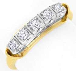 Foto 1 - Halbmemory Diamant Ring 0,28ct Gelbgold Weissgold, Shop, S6844