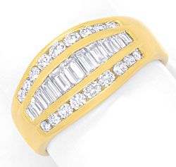 Foto 1, Topmoderner Diamant Goldring 1,1ct Diamanten Luxus! Neu, S6861