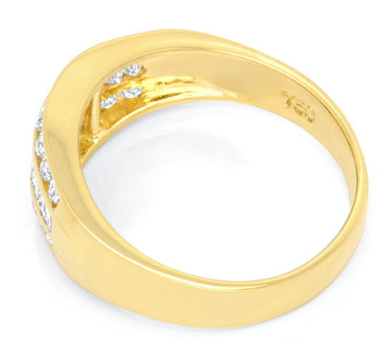 Foto 3, Topmoderner Diamant Goldring 1,1ct Diamanten Luxus! Neu, S6861