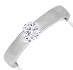 Foto 1 - Brillantspannring 18K Weissgold 0,44ct River Luxus! Neu, S6870