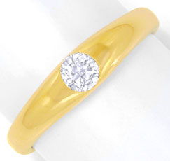 Foto 1, Brillantring Gelbgold massiv, 0,25ct River, Luxus! Neu!, S6877