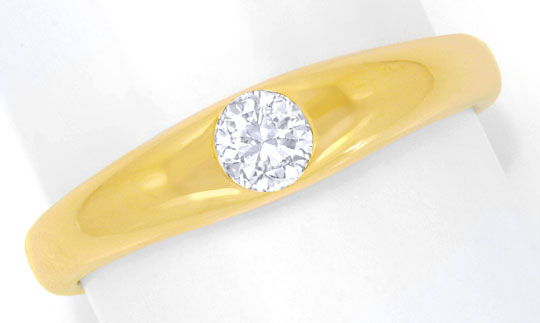 Foto 2 - Brillantring Gelbgold massiv, 0,25ct River, Luxus! Neu!, S6877