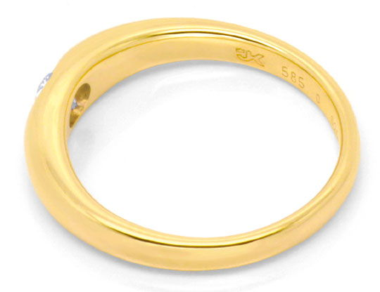 Foto 3 - Brillantring Gelbgold massiv, 0,25ct River, Luxus! Neu!, S6877