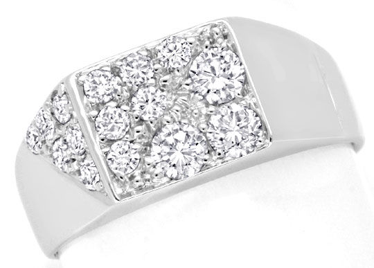 Foto 2, Brillant Diamant Ring Weissgold 15 Diamanten Luxus! Neu, S6924