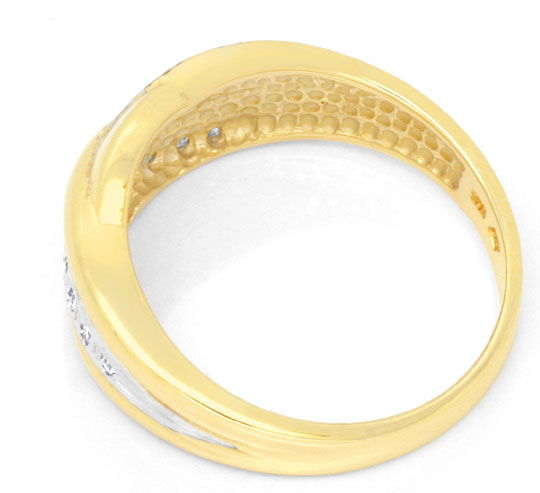 Foto 3, Brillantbandring 15 Brillianten, 14K Gelbgold Shop Neu!, S6938