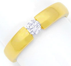 Foto 1, Diamantspannring Gelbgold, Diamant 0,23ct River, Luxus!, S6943