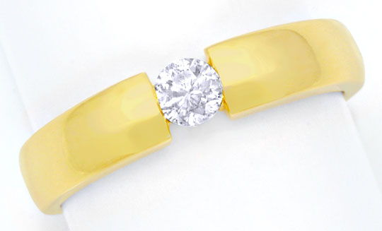 Foto 2, Diamantspannring Gelbgold, Diamant 0,23ct River, Luxus!, S6943