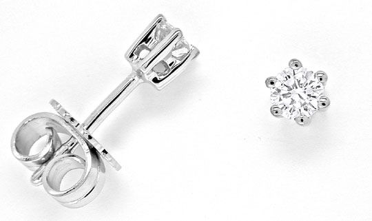Foto 1 - Brillant Ohrringe Diamant Ohrstecker 18K Weissgold Shop, S6970